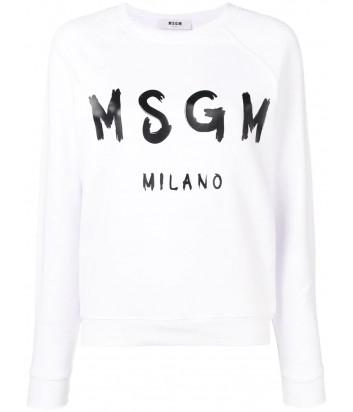 Женская толстовка MSGM 2641MDM с логотипом белая