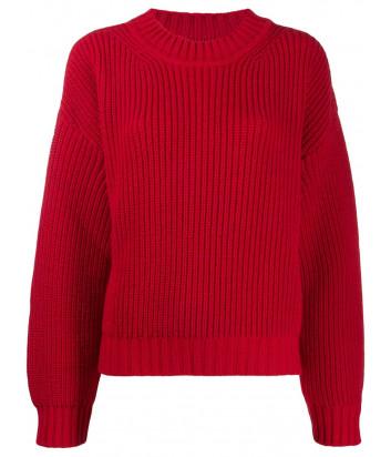 Женский свитер MSGM 2741MDM свободного кроя красный
