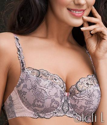 Бюстгальтер с полумягкой чашкой Stefi L Камея 2088-854687 розовый