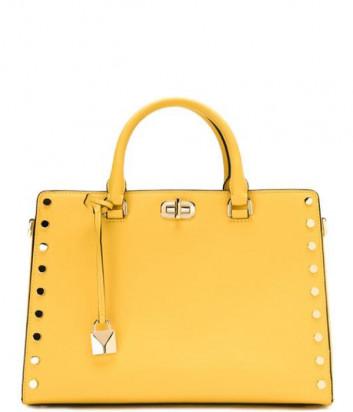 Большая сумка Michael Kors Sylvie желтая с золотой фурнитурой