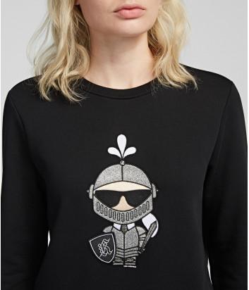 Женская толстовка Karl Lagerfeld 96KW1842 Карл Рыцарь черная