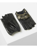 Кожаные митенки Karl Lagerfeld 96KW3609 черные