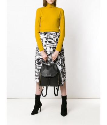 Черный рюкзак Michael Kors Viv в зернистой коже с вертикальными молниями