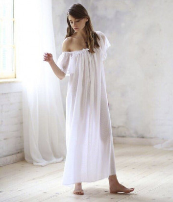 Длинная сорочка Suavite Корин белая