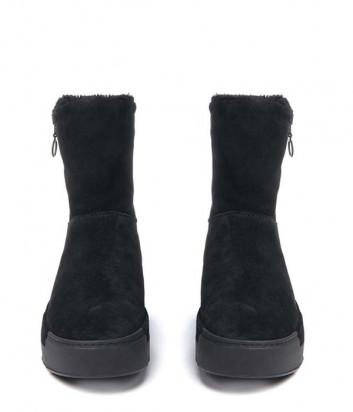 Замшевые ботинки на меху Vic Matie с мехом черные