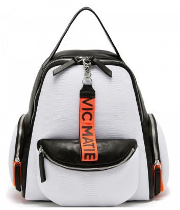 Кожный рюкзак Vic Matie 1V0728 с текстильными вставками белый