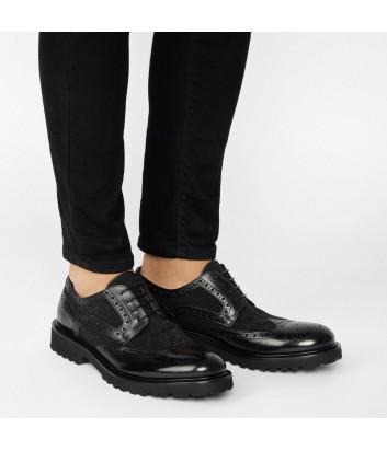 Мужские туфли Baldinini 046802 в полированной коже черные