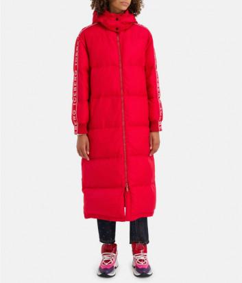 Длинный пуховик ICEBERG J0915050 красный