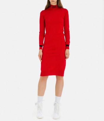 Шерстяное платье-гольф ICEBERG AH057008 красное
