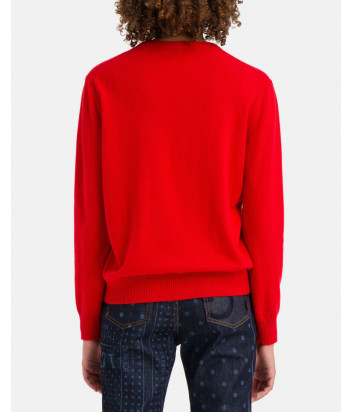 Шерстяной свитер ICEBERG A0237054 с изображением Мики Мауса красный