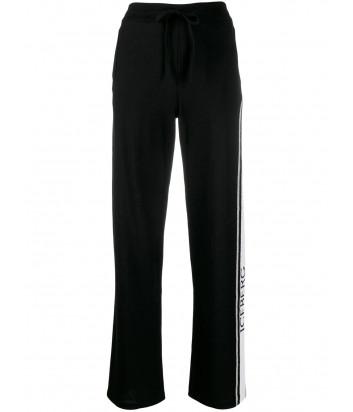 Трикотажные штаны ICEBERG AB057010 черные с логотипом