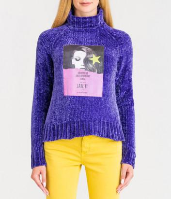 Вельветовый свитер-гольф ICE PLAY A0109010 фиолетовый