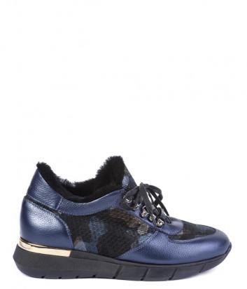 Кроссовки на меху Helena Soretti 3102 синие