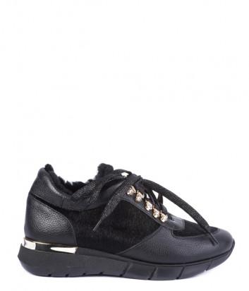 Кроссовки на меху Helena Soretti 3105 с декором черные