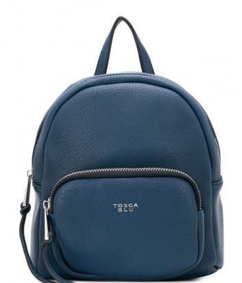 Синий рюкзак Tosca Blu TF1933B33 с внешним карманом на молнии