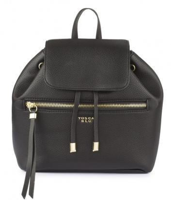 Черный рюкзак Tosca Blu TF1942B43 с внешним карманом на молнии