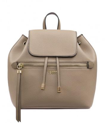 Бежевый рюкзак Tosca Blu TF1942B43 с внешним карманом на молнии