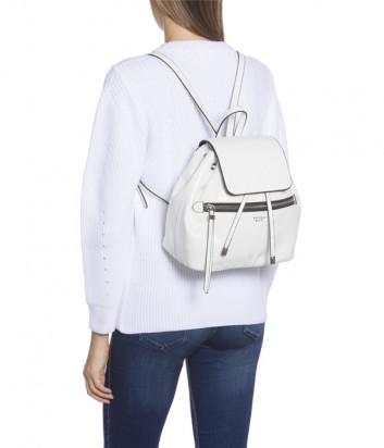 Лаковый рюкзак Tosca Blu TF1943B53 с внешним карманом белый
