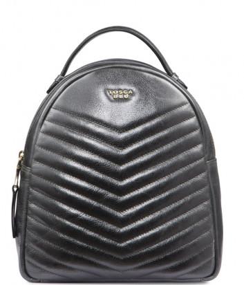 Рюкзак Tosca Blu TF192B282 в стеганной коже серебристый