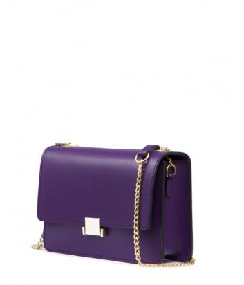Кожаная сумка на цепочке Tosca Blu TF19HB232 фиолетовая