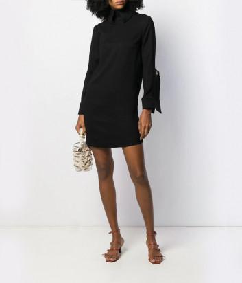 Платье-рубашка Erika Cavallini A9PP9AV06 с оригинальными манжетами черное
