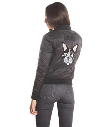 Черная куртка J.B4 Just Before WH06302 с аппликацией на спине