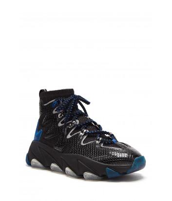 Женские кроссовки ASH Escape черные с синими вставками