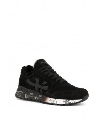 Мужские замшевые кроссовки Premiata Mick черные