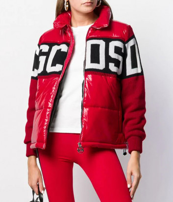 Красная куртка GCDS CC94W040200 с трикотажными рукавами