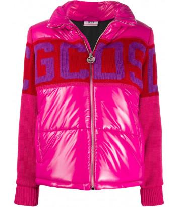 Розовая куртка GCDS CC94W040200 с трикотажными рукавами