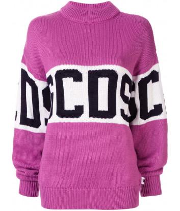 Вязанный джемпер GCDS CC94W020050 с логотипом розовый