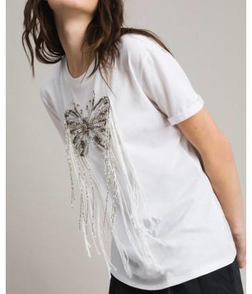 Белая футболка TWIN-SET 191TP2600 с декором