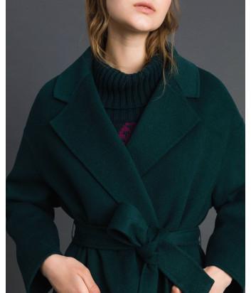 Пальто TWIN-SET 192TP2312 с карманами зеленое
