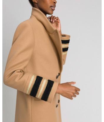 Длинное двубортное пальто TWIN-SET 192TT2160 бежевое