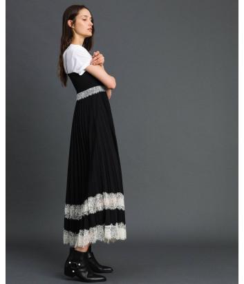 Платье-комбинация TWIN-SET 192TP2282 черное с кружевом