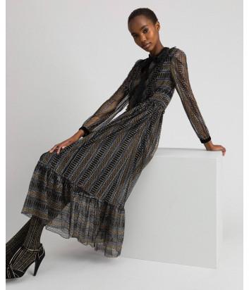 Длинное кружевное платье TWIN-SET 192TT2360 с люрексом