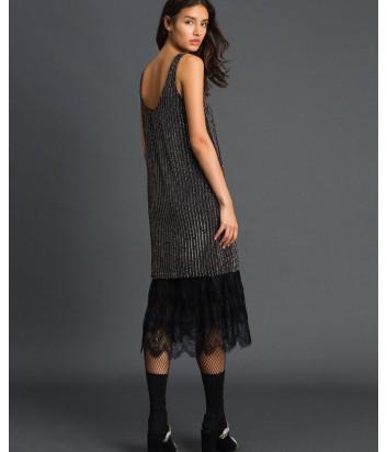 Платье TWIN-SET 192TP2461 расшитое пайетками и кружевом