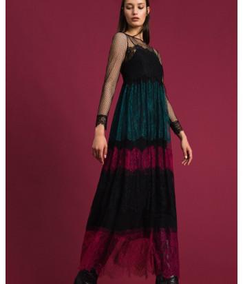 Длинное кружевное платье TWIN-SET 192TP2702 цветное