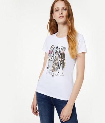 Белая футболка Liu Jo W69382 с принтом