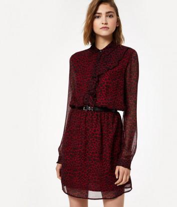 Платье Liu Jo W69243 красное с леопардовым принтом