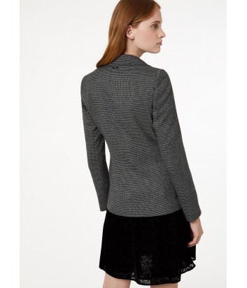 Трикотажный пиджак Liu Jo W69331 с брошами серый