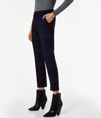 Укороченные брюки Liu Jo W69311 синие в клетку