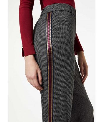 Укороченные брюки Liu Jo W69089 серые в мелкую клетку