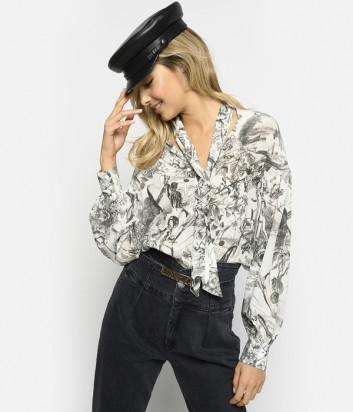 Шёлковая блуза PINKO 1B143H с принтом