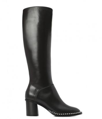 Кожаны сапоги Casadei 1S798L061 с декором черные