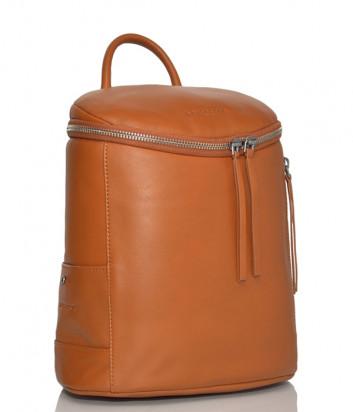 Кожаный рюкзак Lancaster 578-79 с круговой молнией оранжевый