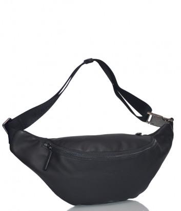 Кожаная поясная сумка Lancaster 320-30 черная