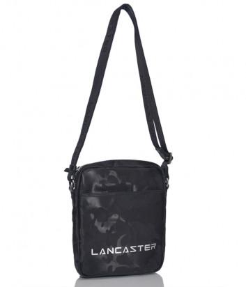 Сумка через плечо Lancaster 300-08 черная с принтом