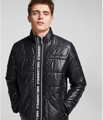 Стеганная куртка Karl Lagerfeld 505043 с надписями черная