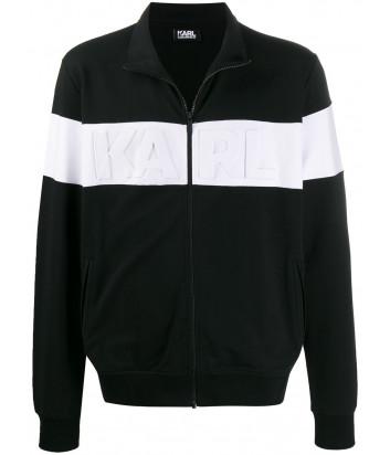 Черная олимпийка Karl Lagerfeld 705024 с белой полоской и логотипом